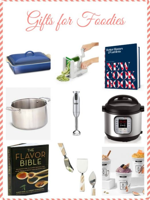 Are you looking for the perfect gift for foodies for the holidays? This gifts for foodies guide features easy, inexpensive gift ideas for the foodie or home chef on your holiday list. #holiday #giftguide #cookbook #christmas #foodie #wishlist