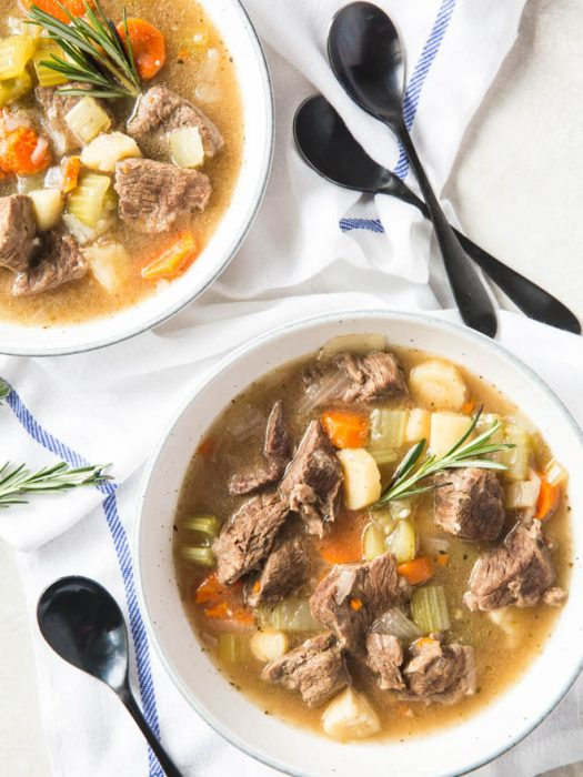 Instant Pot Beef Stew is the perfect comfort food without all of the carbs. This low carb stew is made in the instant pot to make prep and clean up easy. #instantpot #beefstew #recipe #lowcarb #healthy #dinner #recipe