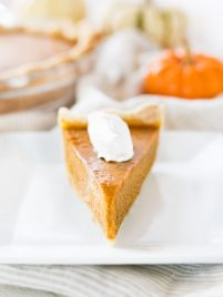 Pumpkin pie from scratch is a must during the fall baking season. Use this recipe to make a delicious homemade pie with a crust made from scratch! #pumpkin #pie #fromscratch #dessert #recipe