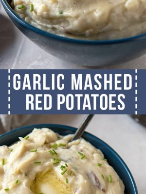 bowl of red mashed potatoes