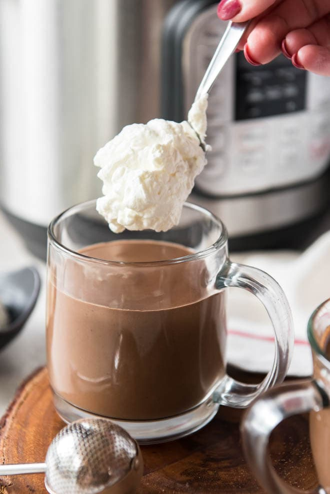 Homemade hot chocolate is the perfect sweet treat and drink to celebrate the holidays!