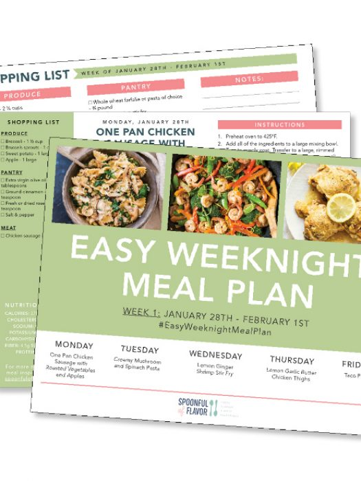 Sign up to receive our FREE printable meal plans delivered to your inbox each week!