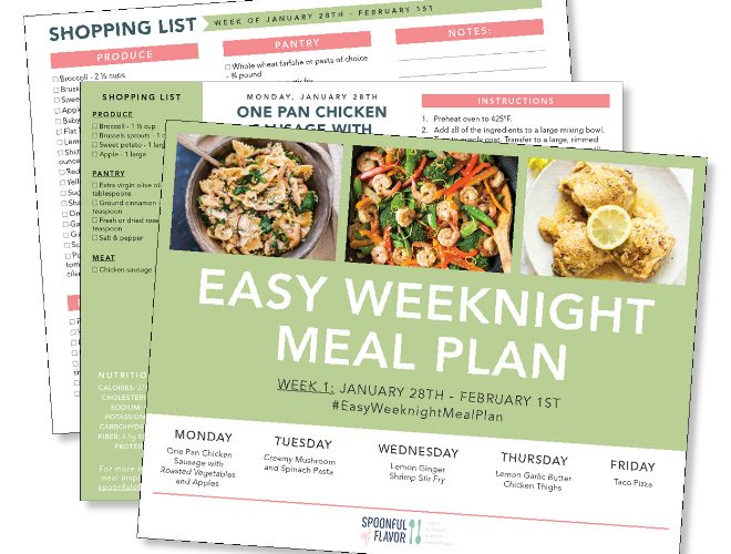 photo relating to Eat More Chicken Printable Sign known as Fresh Taking in Very simple Weeknight Evening meal Courses - Spoonful of Taste