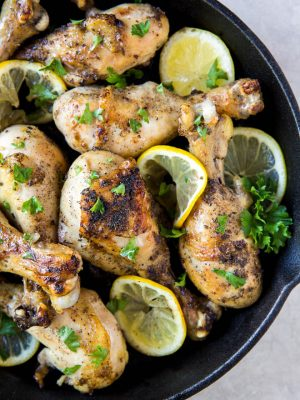 Oven Baked Lemon Pepper Chicken Drumsticks are made with a few simple ingredients to create an easy recipe made in less than 25 minutes. #recipe #lemon #pepper #chicken #drumsticks #dinner #citrus #healthy #mealplan