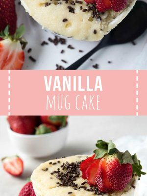 Vanilla Mug Cake Spoonful Of Flavor