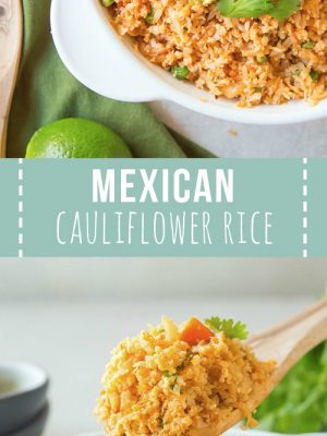 A large bowl of Mexican cauliflower rice.