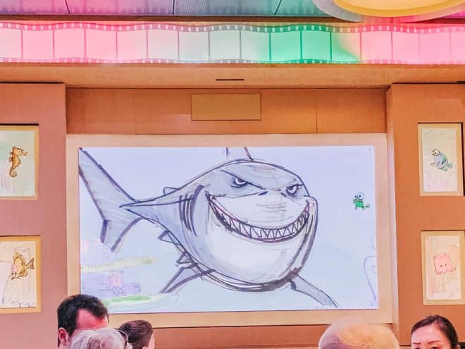 Bruce from Nemo at Animator's Palate Disney Dream