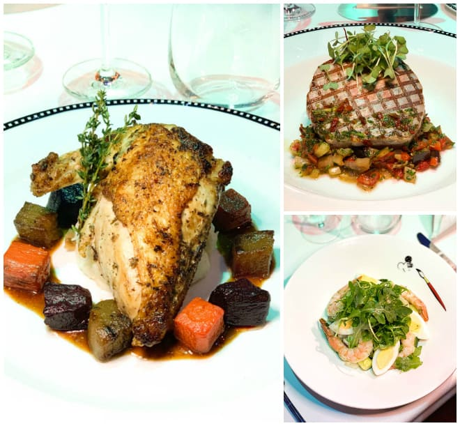 Three dinner options at the Animator's Palate Disney Cruise