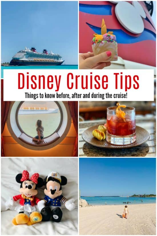Disney Cruise Tips collage of photos of Disney Cruise