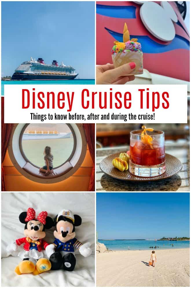 Disney Cruise Tips collage of photos of Disney Cruise