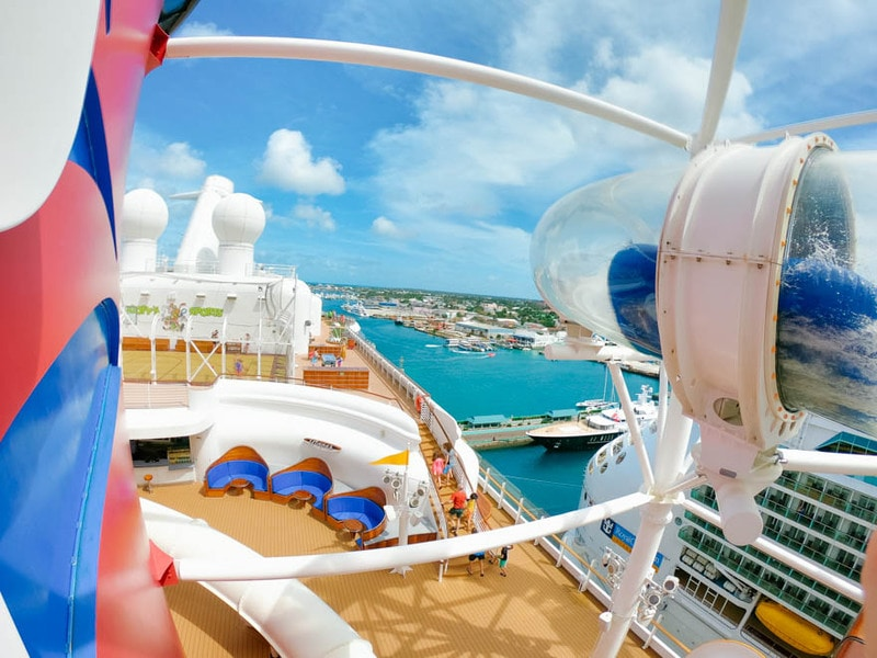 View over the cruise ship on the disney dream.