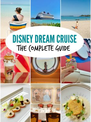 A collage of photos from Disney Dream cruise to Bahamas