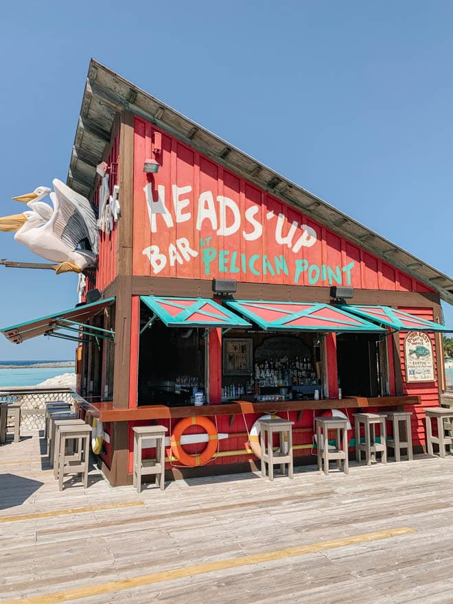 Heads up bar on the dock at Castaway Cay.