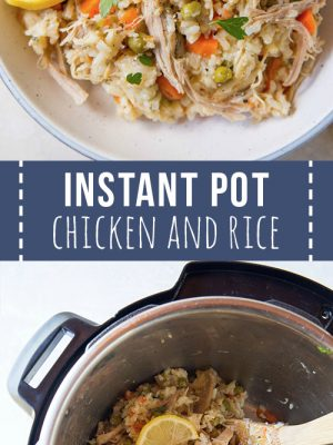 cooking chicken and rice in the Instant Pot