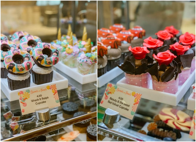 Beauty and the beast cupcake and Wreck it Ralph cupcake.