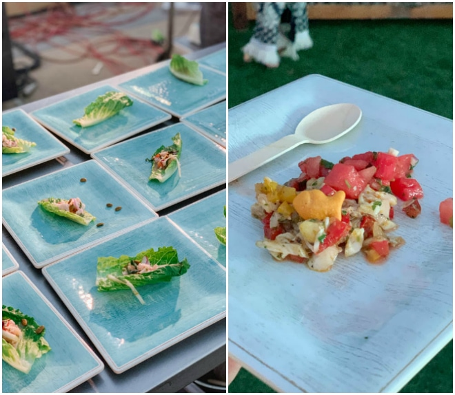 Two dishes created as part of the group challenge at fish to fork.