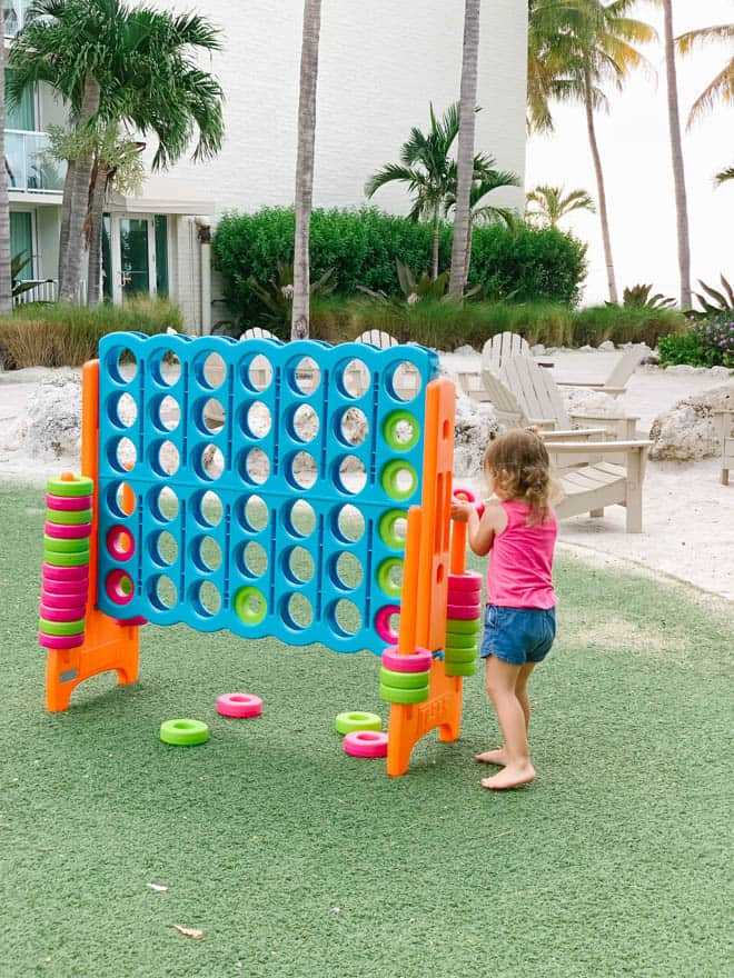 Playing outside activities at Amara Cay Resort