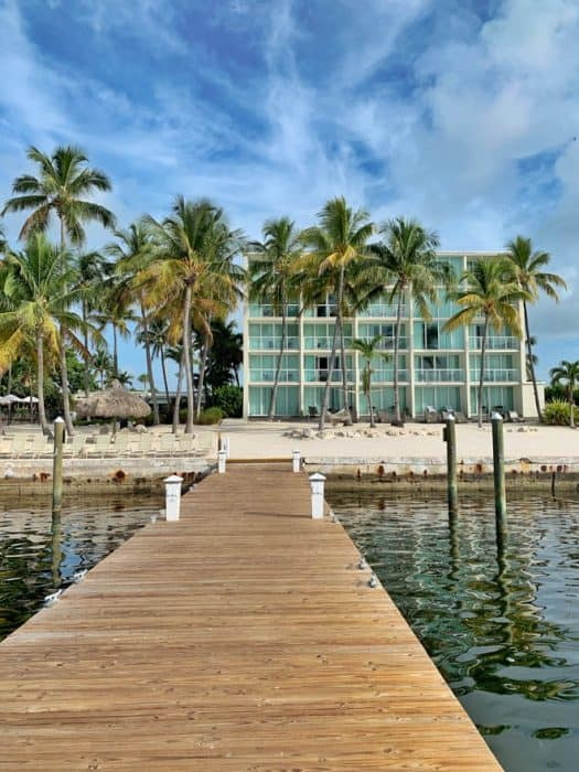 Photo of Amara Cay Resort from the dock.