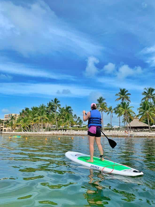 Paddleboarding at Amara Cay Resort Florida Keys