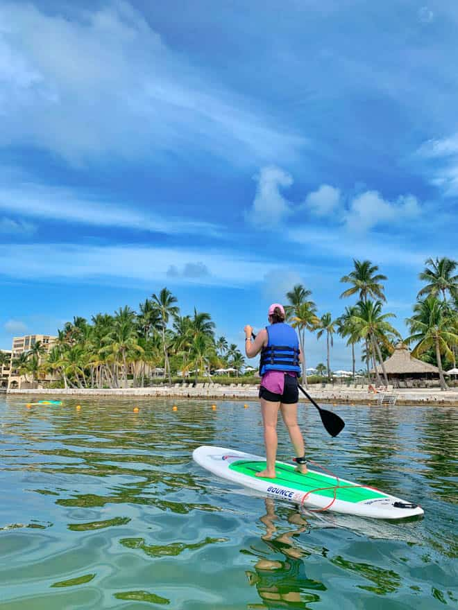 Paddleboarding at Amara Cay Resort Florida Keys