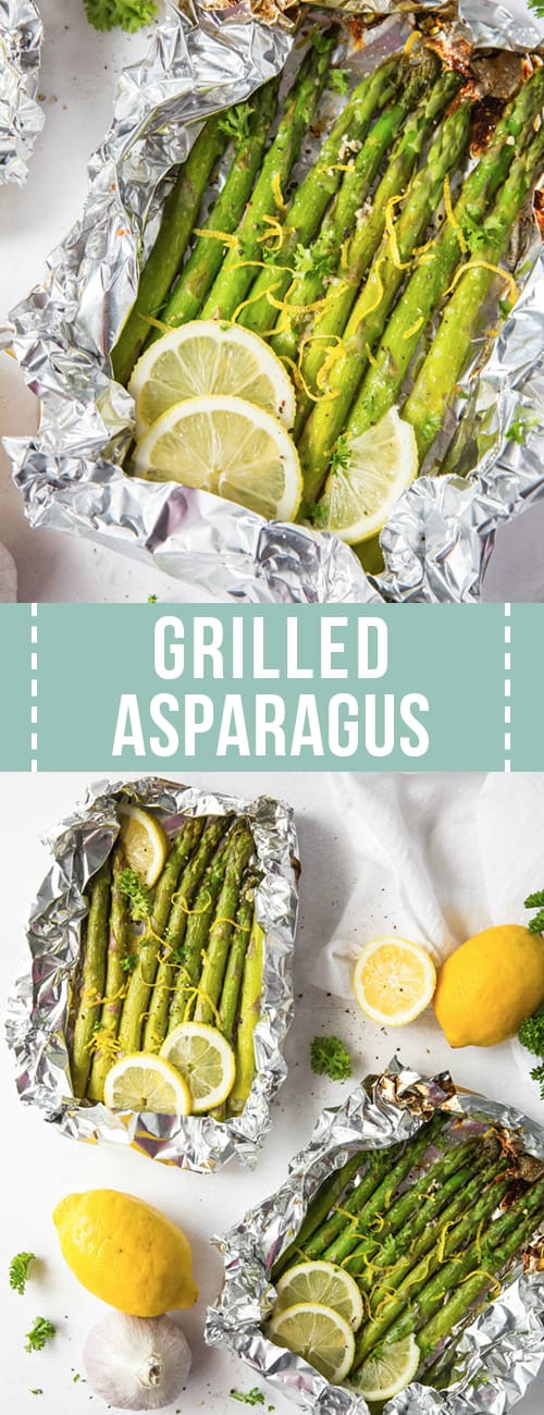 Asparagus grilled in foil packets