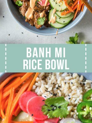 Banh mi rice bowl