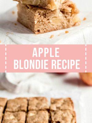 Apple blondie recipe