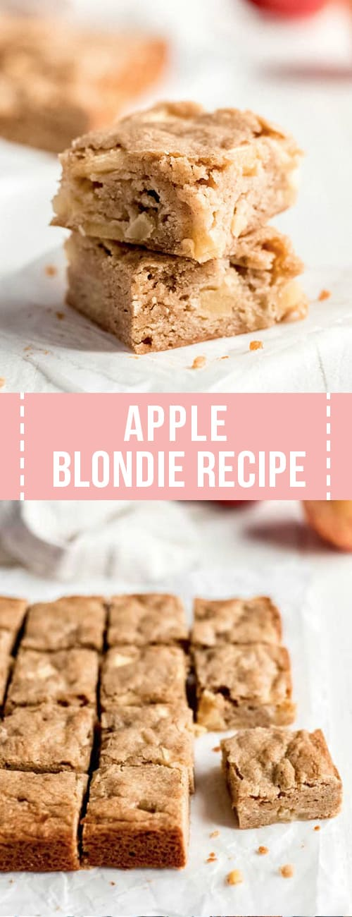 Apple blondie recipe