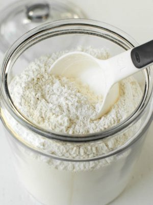 Jar of homemade cake flour