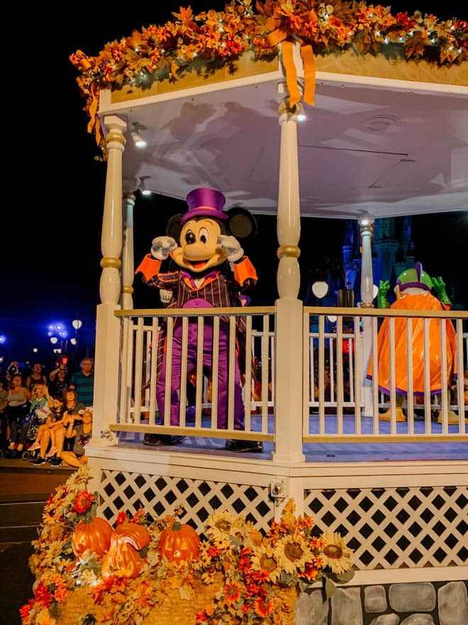 Halloween Mickey on parade float