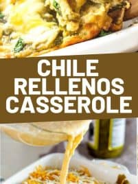 a slice of baked chile rellenos casserole