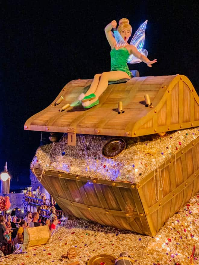 tinkerbell on parade float