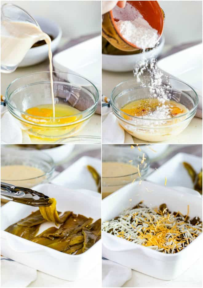 steps to make chile relleno classerole