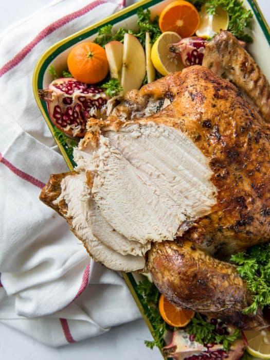 Slice of turkey