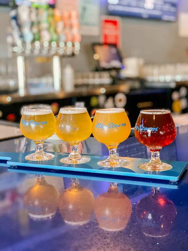 beer flight at Big Storm Brewing Cape Coral