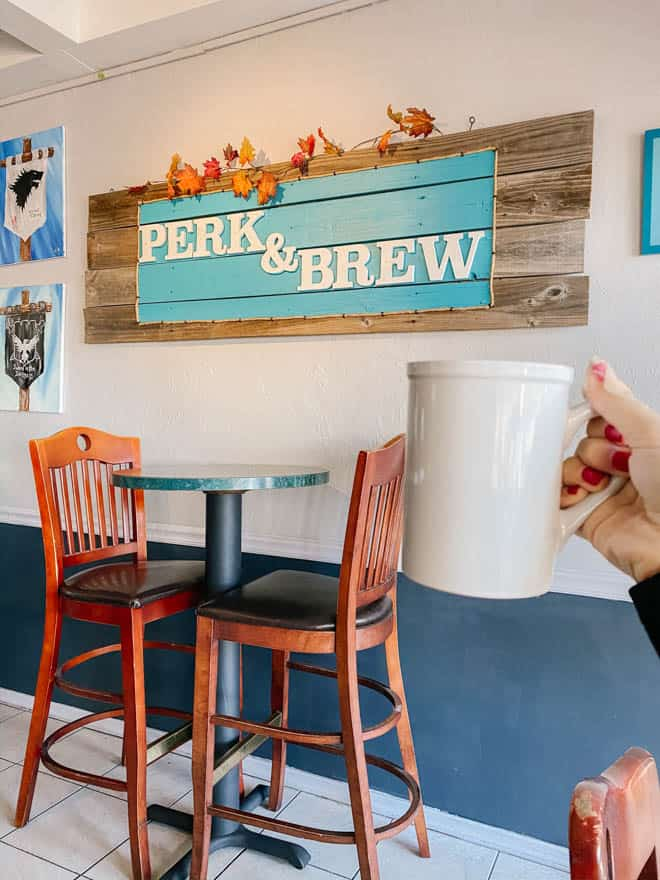 coffee at Perk and Brew