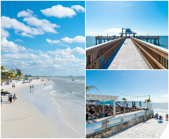 beach and pier in ft myers