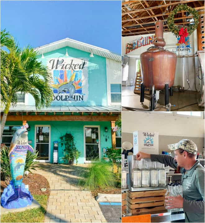 tour at wicked dolphin distillery