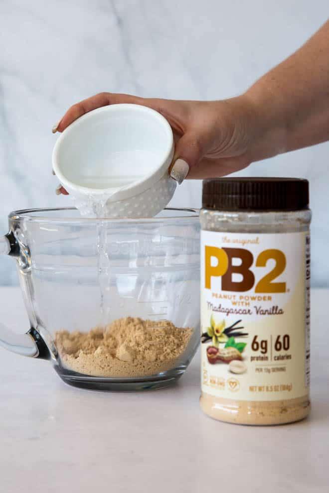PB2 powder syrup or glaze