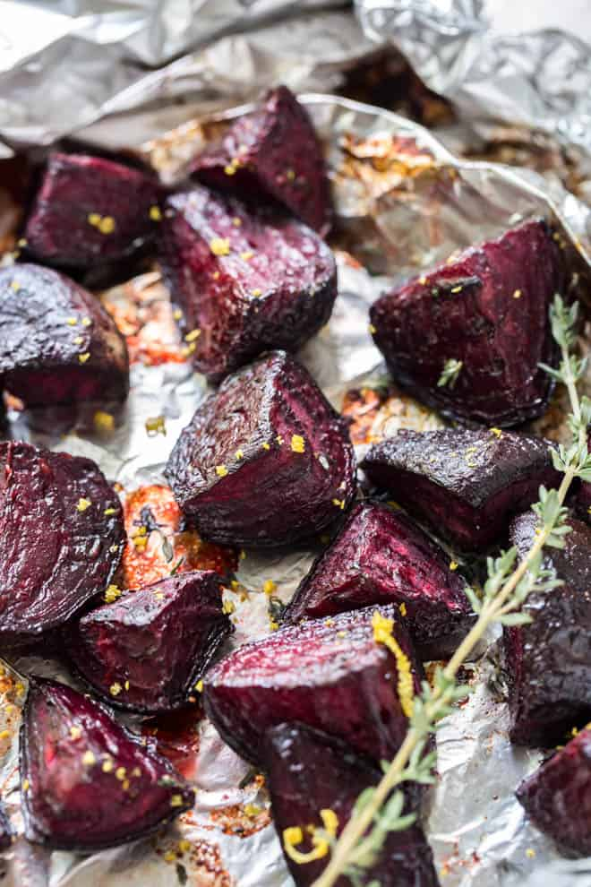 beets with orange zest and thyme