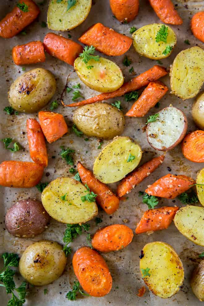 Easy Oven Roasted Potatoes And Carrots Spoonful Of Flavor
