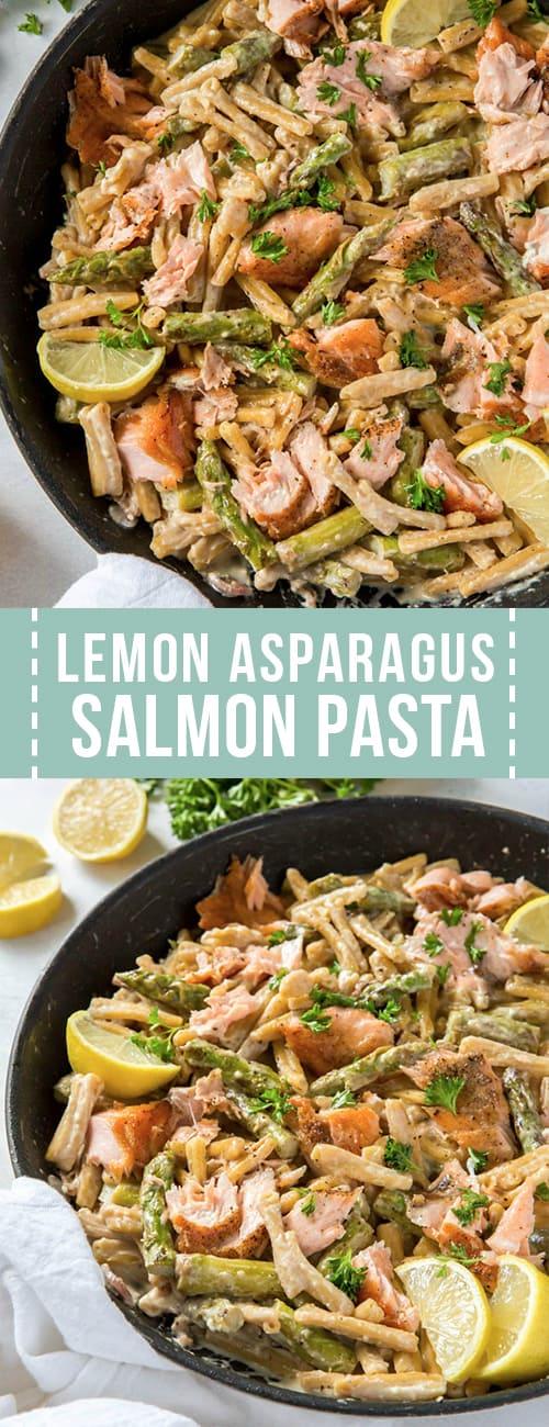 lemon asparagus salmon pasta