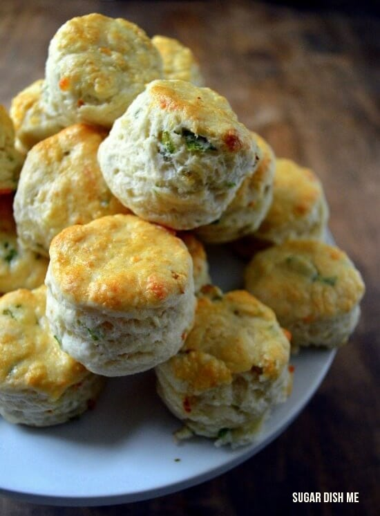 savory scones with spring onions and cheese