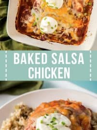 easy baked salsa chicken