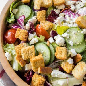 garden salad made with fresh ingredients