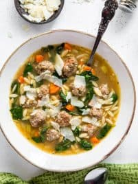 bowl of italian wedding soup