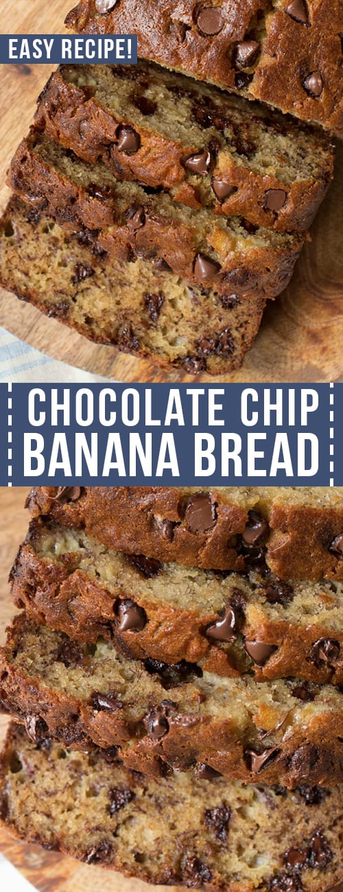 slices of chocolate chip banana bread