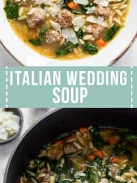 large bowl of Italian wedding soup