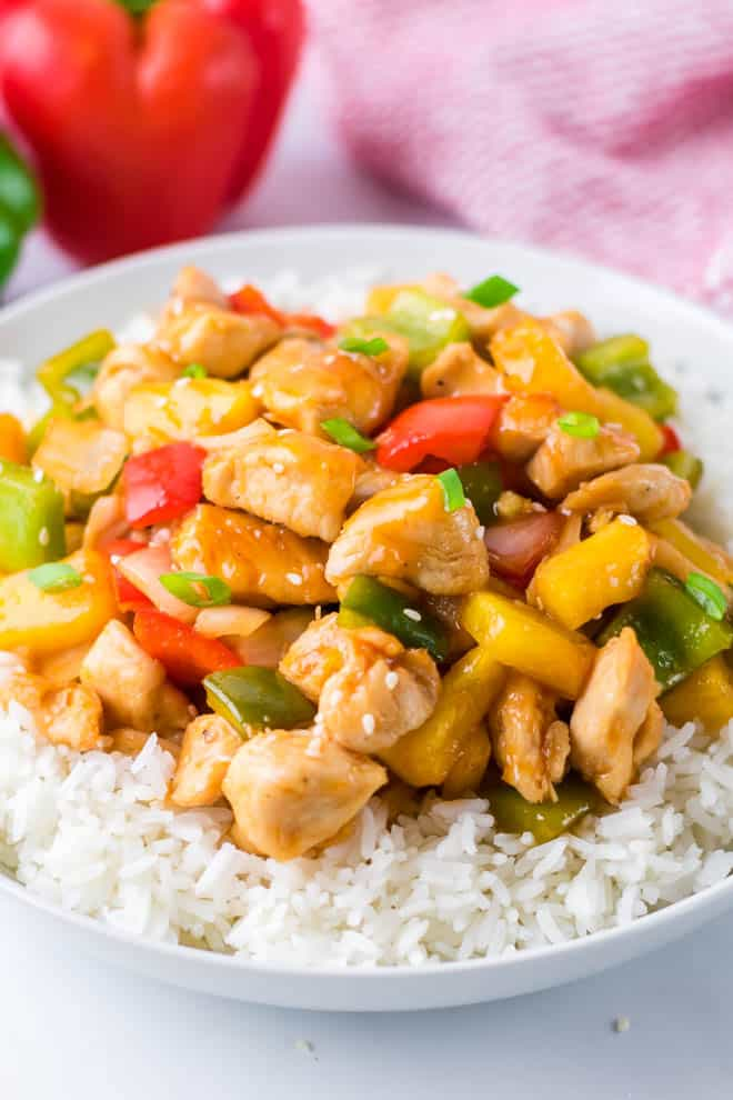 Sweet And Sour Chicken With Pineapple Spoonful Of Flavor