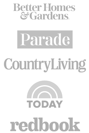 Press Logos: Redbook, Parade, BuzzFeed, Today, CountryLiving